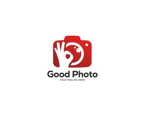 photography logo design vector, photo service logo design template