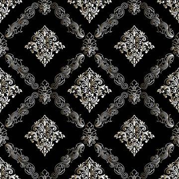 Seamless oriental pattern. Vector vintage floral seamless pattern element. Damask wallpaper.