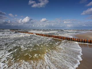 Morze sztorm - Dziwnówek Dziwnowo Falochron