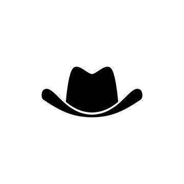 cowboy hat icon illustration, vector cowboy hat silhouette - Vector