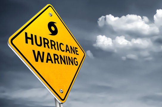 Hurricane Warning - traffic sign information