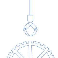 Mechanical arms, cogs & chains.