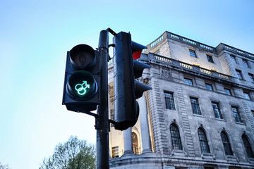 UK, London, gay-themed traffic lights