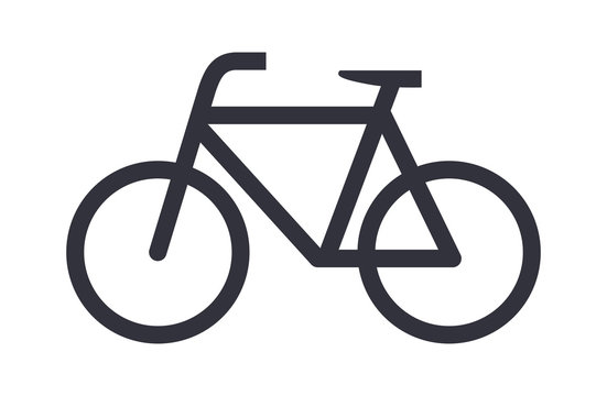 Bike icon bicycle vector symbol