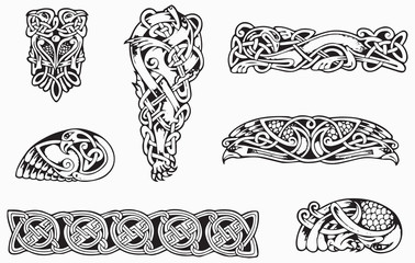 celtic tattoo flash set