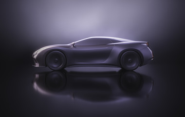 Aerodynamic Prototype Sports Car Concept