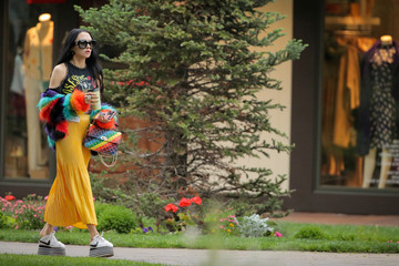 Stacey Bendet Eisner, CEO and creative director for Alice + Olivia Clothing Co., attends the annual Allen and Co. Sun Valley media conference in Sun Valley, Idaho