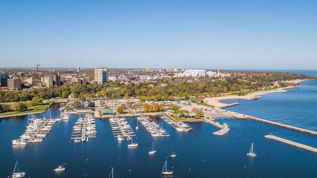 Aerial Drone Milwaukee Wisconsin