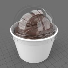 Chocolate ice cream cup 1