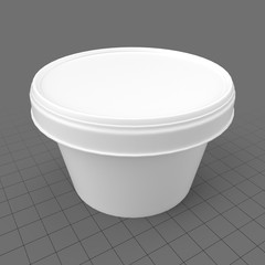 Small ice cream cup