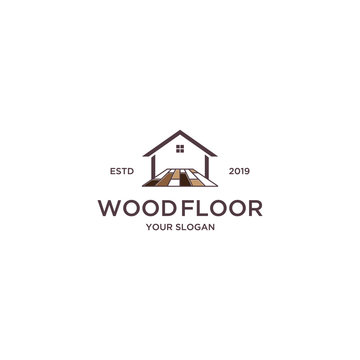 wood floor for home logo