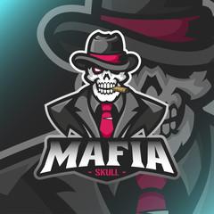 Vector Mafia Boss mascot for teammate logo
