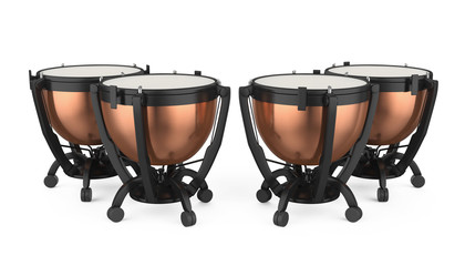 Timpani Musical Instrument Isolated