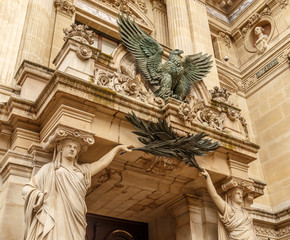 Stage door of the National academy of music and Paris opera. Paris, France