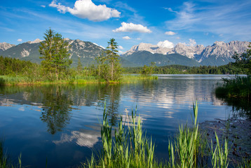 Lake Barmsee at the Karwendel mountains Wall mural