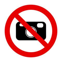 Kamera und Verbotsschild