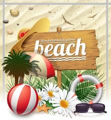 beautiful beach message