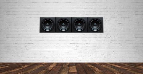 sound speaker in front of background - 3D Illustration
