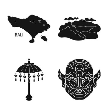 Vector illustration of and traditional symbol. Set of and bali stock vector illustration.