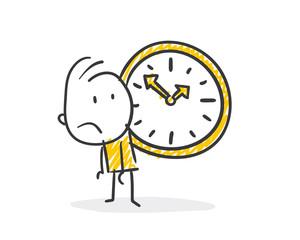 Strichfiguren / Strichmännchen: Uhr, Tempo. (Nr. 415)