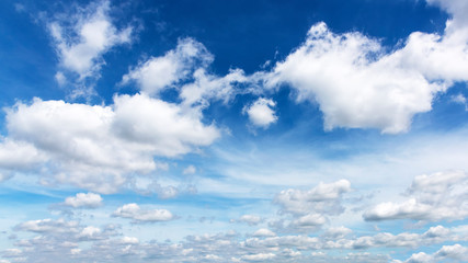Beautiful nature Blue sky background with clouds