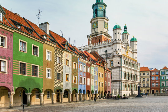 Historic town hall architecture in Poznan