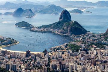 Spoed Foto op Canvas Rio de Janeiro Sugar Loaf Mountain seen from the Corcovado Mountain, Rio de Janeiro