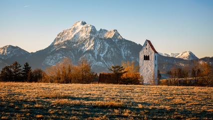 Alpy bawarskie rankiem