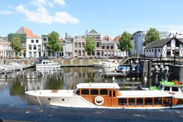 mototboats in the harbor of Gorinchem