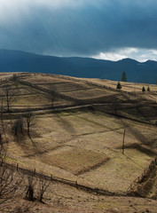 Hills in Carpathian Mountains