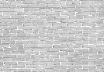 White old brick wall texture background banner with clean space for your design.