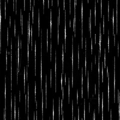 Dense seamless texture of gray dots, lines, pixels on black background. Black inversion of free structures