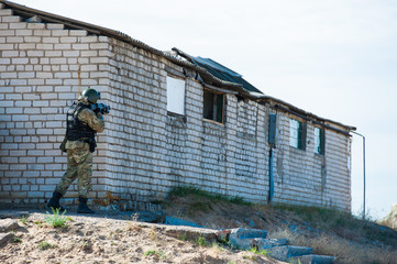 Subdivision anti-terrorist police during a tactical exercises