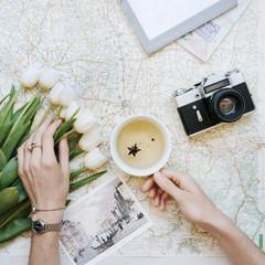 a female travel plans