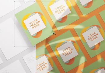 Diagonally Arranged Flyer Set Mockup