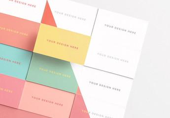 Alternating Business Card Grid Set Mockup