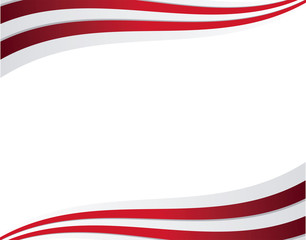 frame of united state american flag icons