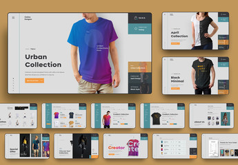 User Interface E-Commerce Website Page Layout Set