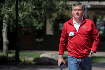 Charles Rivkin, CEO of the Motion Picture Association of America, attends the annual Allen and Co. Sun Valley media conference in Sun Valley, Idaho