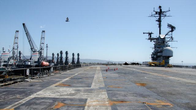 Flight deck of USS Hornet (CVS-12), Alameda, California, USA