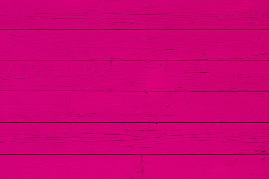 Wooden wall background, magenta color