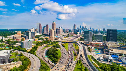 Atlanta, Georgia, USA Downtown Skyline Aerial Fotobehang