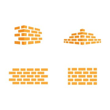 Brick wall logo vector