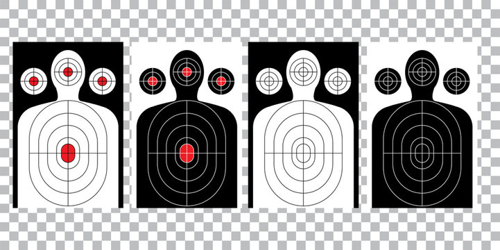 blank arrow  target blank gun target paper shooting target blank target background target paper shooting on white background vector