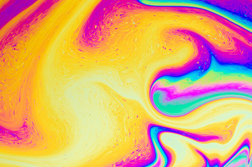 Abstract soap bubble structure