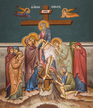 Deposition of body of Christ from cross