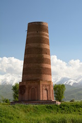 Burana tower. Chuy valley. Kyrgyzstan