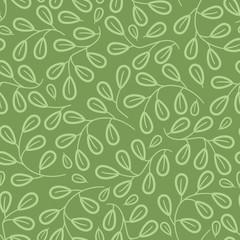 Simple Leaf Seamless Pattern