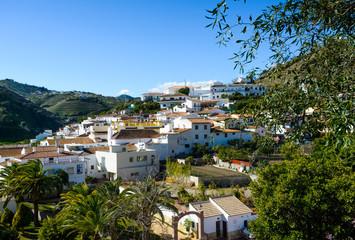 White village of La Viñuela, Andalusia, Spain