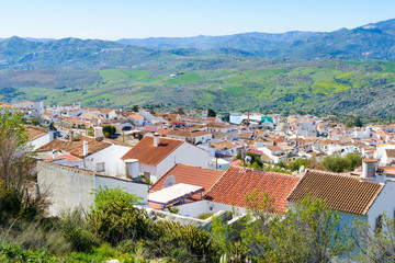 White village of Periana, Andalusia, Spain